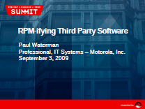 RPM-ifying Third Party Software